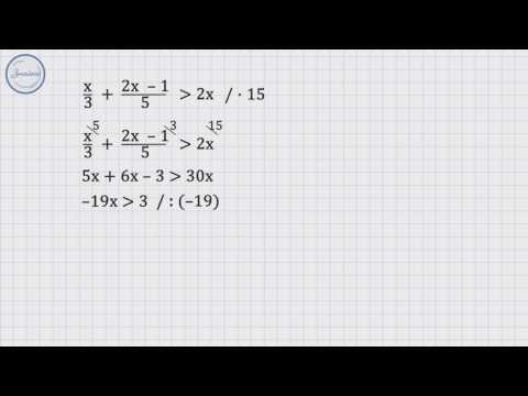 Решение линейных неравенств