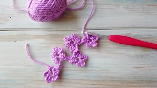 Quick Crochet Flower Chain