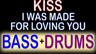 Kiss   I Was Made For Loving You (Guitar Backing Track) With Karaoke Lyrics