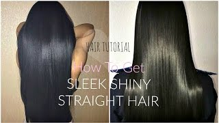 HOW TO GET STRAIGHT SLEEK HAIR   Perfectly FRIZZ-FREE Tutorial   + Best Way To Straighten Curly Hair
