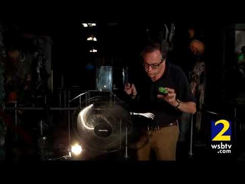 Haunted House Tip:  Oscillating fan creates spooky scene