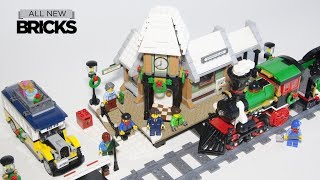 Lego Creator Winter Train Station with Winter Holiday Train Speed Build