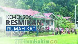 Kemensos Resmikan 39 Rumah Bagi Komunitas Adat Terpencil di Desa Rumbia, Gorontalo