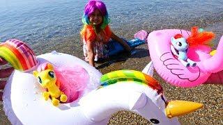 Литл Пони плавают в море! Мультики для девочек