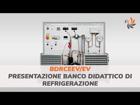 Presentazione banco didattico di refrigerazione - mod. BDRCEEV/EV