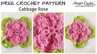 Cabbage Rose Free Crochet Pattern - Right Handed