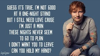 Gambar cover Ed Sheeran - Stay With Me (Lyrics)