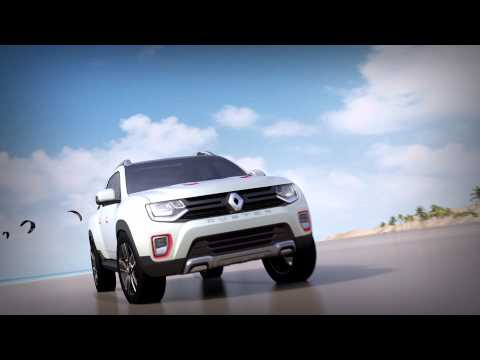 renault duster oroch concept is a 4 door pickup video. Black Bedroom Furniture Sets. Home Design Ideas