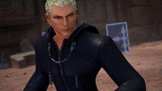 Kingdom Hearts III - Luxord, Marluxia, & Larxene Boss Fight No Damage (Proud Mode)
