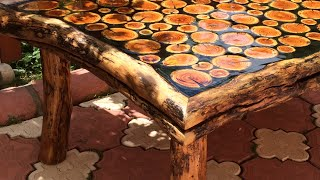 Sanat eseri natural odun sehpa yapımı