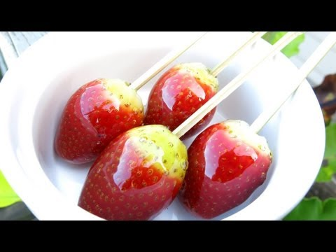 HOW TO MAKE TOFFEE STRAWBERRIES
