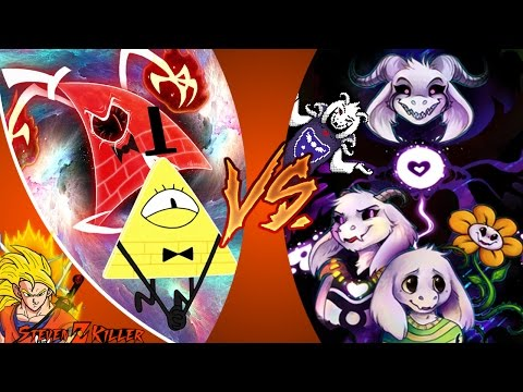 SANS vs BILL CIPHER 2! REMATCH! Cartoon Fight Club Episode