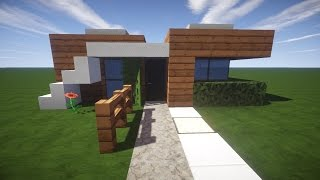 Einfache Moderne Villa Minecraft Tutorial Part German Most - Minecraft mittelalter haus klein