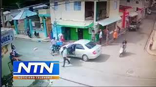 Cámaras de seguridad captan el momento en que atropellan mujer en SFM