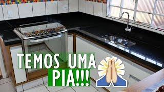 FINALMENTE TEMOS UMA PIA | REFORMA DA COZINHA #4