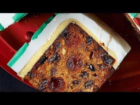 Video Christmas Cake Recipe - Xmas Cake Recipe - Easy Fruit Cake Recipe
