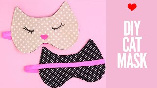 Sleep Mask Tutorial - How To Make A Cat Sleep Mask