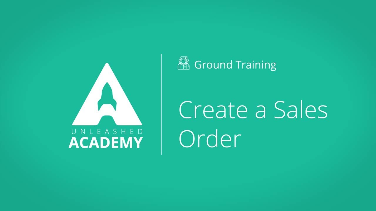 Create a Sales Order YouTube thumbnail image