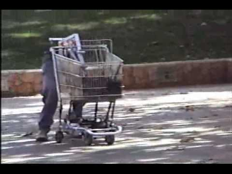 Dismembered Robot Shopping Cart Cruises Streets, Bursts into Flames