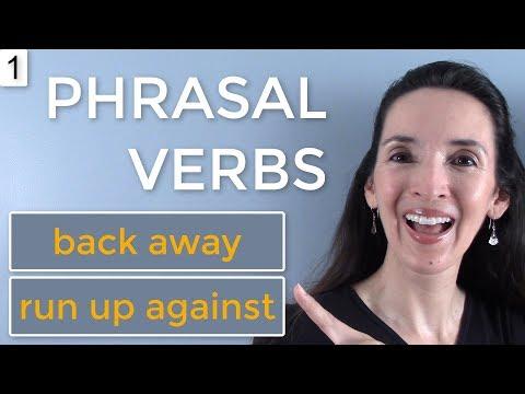 Jennifer's NEW Phrasal Verb Challenge 💪 Lesson 1: back away, run up against