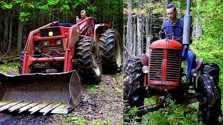 Power vs Agility / Which Logging Tractor is Best?- Log Cabin Update- Ep 10.8