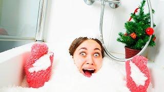 ВАННА ИЗ СНЕГА ! CHALLENGE ! Форт из снега в ванной