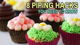 8 PIPING BAG HACKS YOU NEED TO KNOW Ann Reardon baking hacks