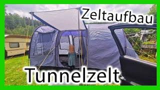 Zeltaufbau 4 Personen Tunnelzelt | Aufbauroutine | Tutorial