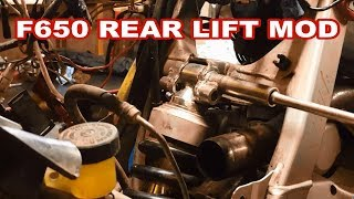 BMW F650 REAR SUSPENSION LIFT MOD  how to raise FUNDURO rear suspension