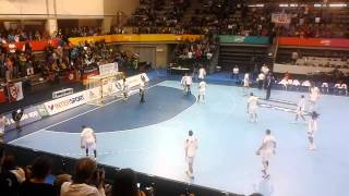 France (world champions) warm up,  World championship in handball, Grannolers, Jan 13, 2013