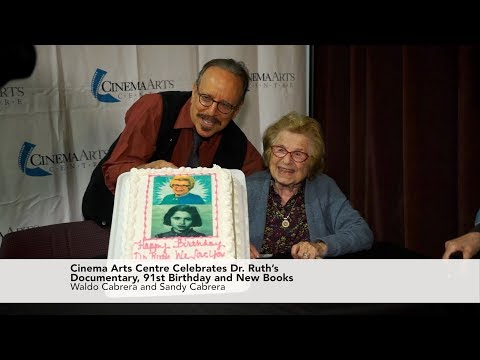 Cinema Arts Centre Celebrates Dr. Ruth's Documentary, 91st Birthday and New Books