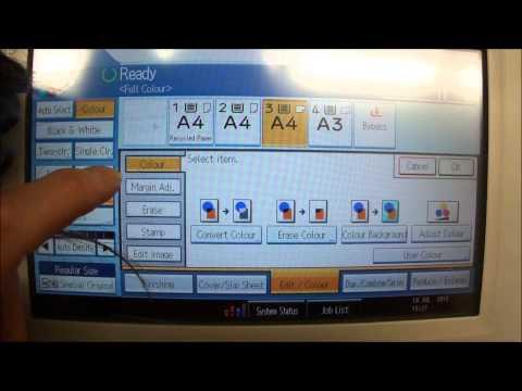 RICOH Aficio MP C2551 product demo