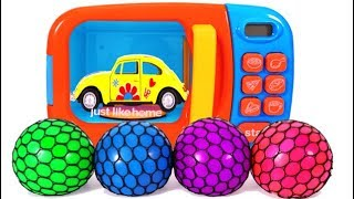Mrs Rainbow Teaches Colors with Toy Cars