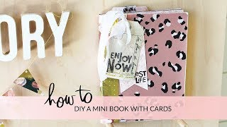 HOW TO DIY A MINI BOOK FROM CARDS