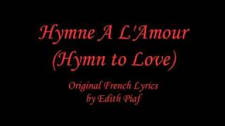 Hymne A L'Amour   Instrumental With English Translation
