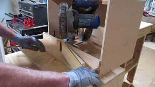 Miter saw a 60 degree cut safely