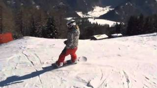 preview picture of video 'Anke snowboarden Steinach 2011'