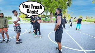1v1 Basketball Against Trash Talking Hater Exposed!