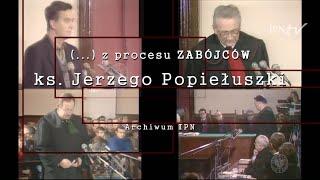 Fragment procesu zabójców ks. Jerzego Popiełuszki [Z ARCHIWUM IPN]