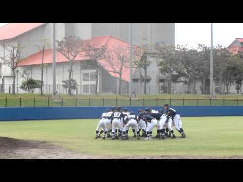 豊見城中学校野球部 2014年12月 試合前の円陣
