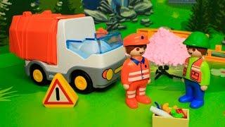 Мультики с игрушками про машинки для детей - Мусоровоз и его важная работа.