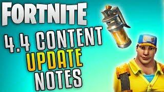 """Fortnite Update 4.4 Content Update """"Fortnite New Update Patch Notes"""" Fortnite Stink Bomb Update"""