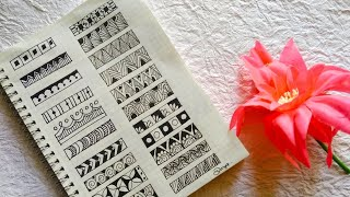 21 Easy Zentangle/doodle Border Patterns Tutorial For Beginners #easy #zentangle #patterns #tutorial