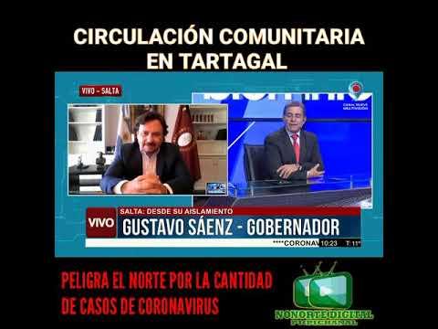 Video: Sáenz confirmó circulación comunitaria de COVID-19 en Tartagal
