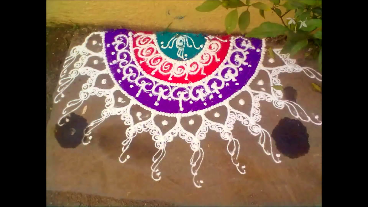 how to draw sanskar bharati rangoli design by mymehndiart