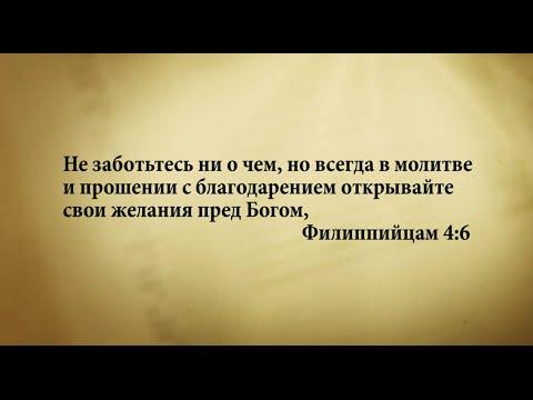 """""""3 минуты Библии. Стих дня"""" (6 августа Филиппийцам 4:6)"""