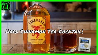 Hard Cinnamon Tea Cocktail | Fireball Whiskey Tea | Babes #Cocktailcollaboration