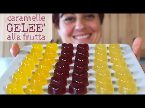 Caramelle Geleè alla Frutta Ricetta Facile - Fruit Jelly Candies Easy recipe