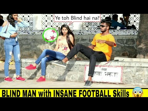 BLIND MAN FOOTBALL SKILLS PRANK⚽ | Ft: ARCHIS PATIL
