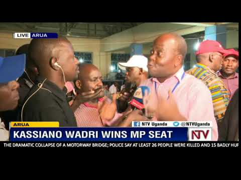 Independent candidate Kassiano Wadri wins Arua bye-election